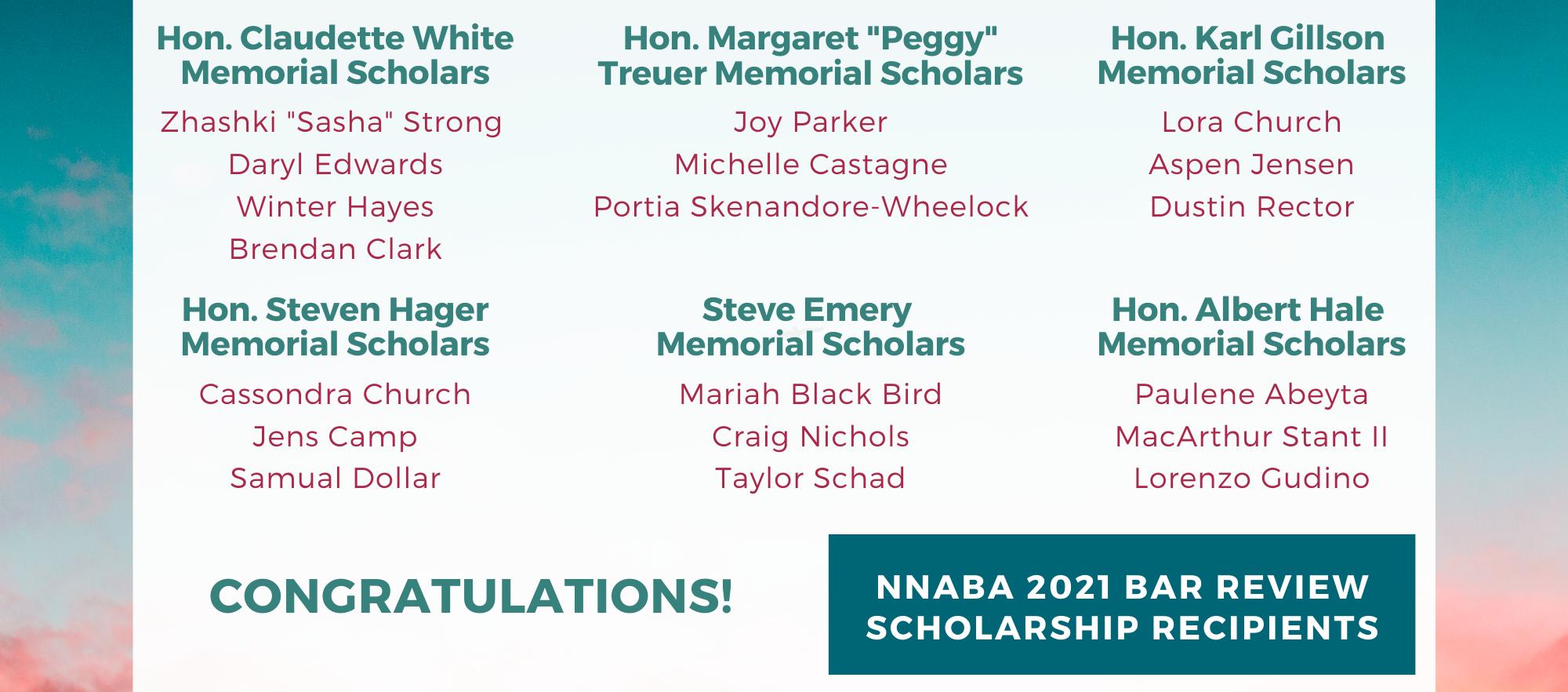 NNABA 2021 Bar Review Scholars